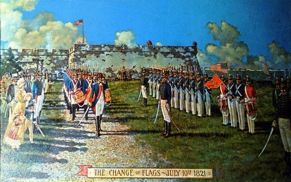 Changing of Flags Castillo de San Marcos 1821